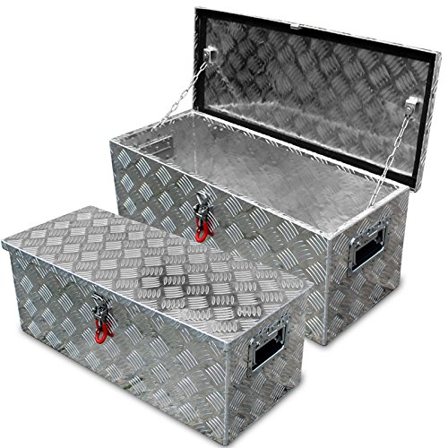 Alukiste m. Abus Schloss, Deichselbox Alubox Staubox Werkzeugkiste Tool Box