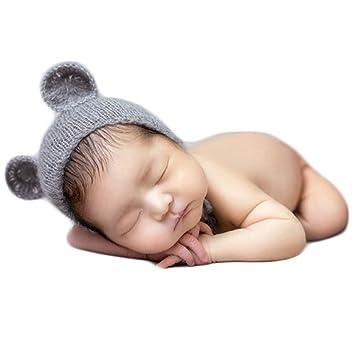 Amazon.com: zeroest bebé fotografía Props oso sombrero ...