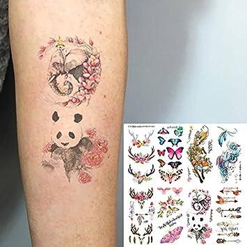 Oottati 8 Hojas Tatuajes Temporales 3D Mano Cuello Flecha Sueño ...
