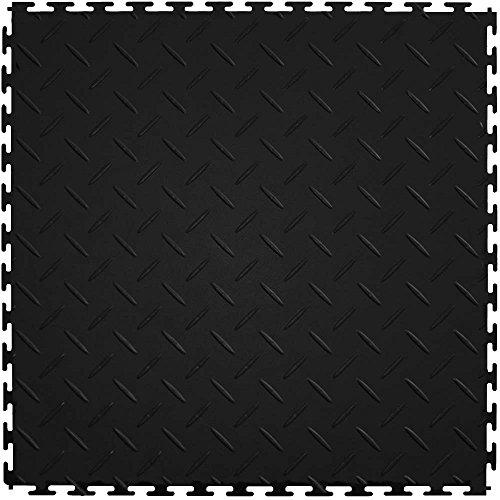 Plate Diamond Flooring Vinyl (IT Tile ITDP450BK45 Diamond Plate)