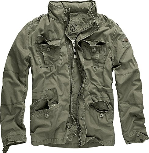 Brandit Men's Britannia Vintage Military M65 Style Short Army Lightweight Jacket Small Olive