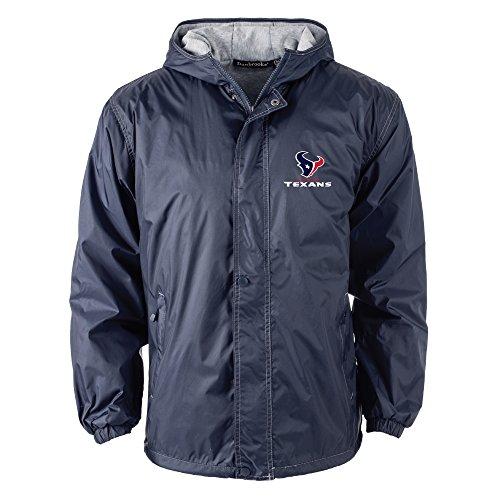 NFL Houston Texans Legacy Nylon Hooded Jacket, 2x large, Navy ()