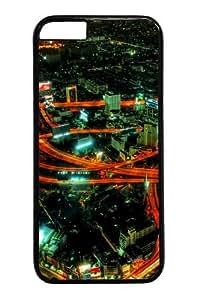 Highways Night Custom iphone 6 plus 5.5 inch Case Cover Polycarbonate Black