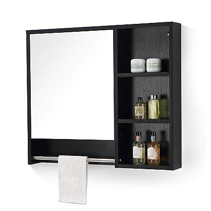 Amazon.com: Mirrors Mirror Cabinet Solid Wood Bathroom ...