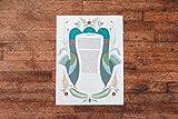 Folk Art Hamsah Ketubah | Jewish/Interfaith/Quaker Wedding Certificate | Hand-Painted Watercolor, Giclée Print