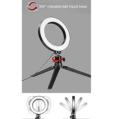 Amazon.com: Anillo de luz con trípode y soporte para ...