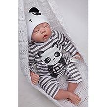 """MaiDe Reborn Baby Dolls 18"""" Cute Lifelike Soft Silicone Vinyl Dolls Newborn Girl Baby Reborn Dolls"""