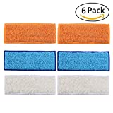 6 Pack Washable Mopping Pads for iRobot Braava Jet 240 241 Included (2 pcs Wet Pads, 2 pcs Dry Pads, 2 pcs Damp Pads) - Aunifun