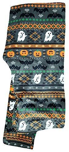 Legging Fair Isle (Halloween Fair Isle Sueded Super Plush Ankle Legging - Large)