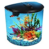 Koller Products 3.5-Gallon Aquarium Kit with Power Filter and LED Lighting, (AP35000BLK)