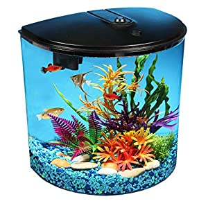 AquaView 3.5 gallon Fish Tank with Power Filter & LED Lighting 4