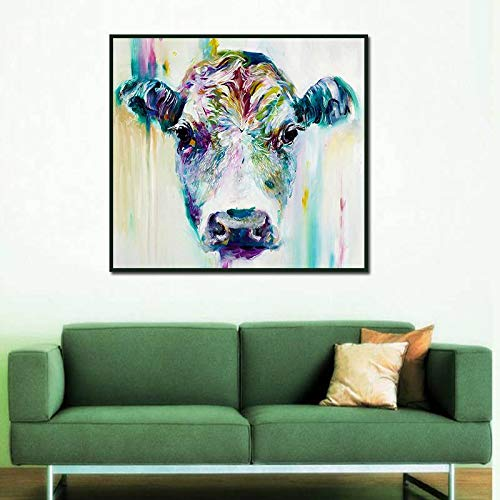 BFY Frameless Modern Abstract Oil Painting Female Ox-head Huge Wall Decor Art On Canvas by BFY (Image #3)