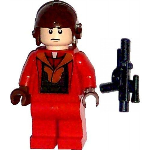 Naboo Pilot (LEGO 9674 Star Wars Naboo Pilot Red Suit Minifig Minifigure)