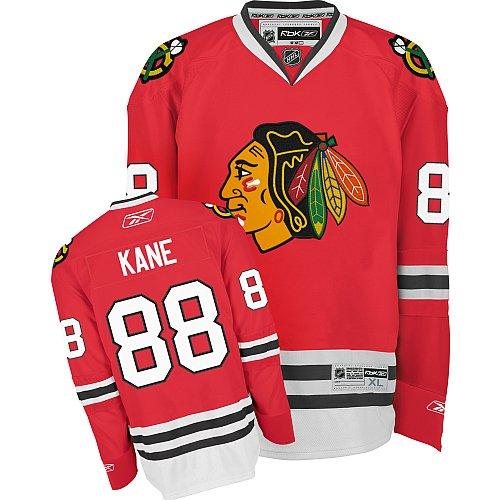 NHL Men's Chicago Blackhawks #88 Patrick Kane Reebok Edge Premier Player Jersey (Red, XX-Large)