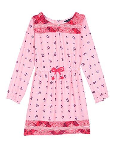 Nautica Toddler Girls' Floral Print Woven Peasant Dress, Light Pink, 3T