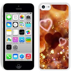 New Beautiful Custom Designed Cover Case For iPhone 5C With Shiny Love Sparkle Light Glitter Background (2) Phone Case