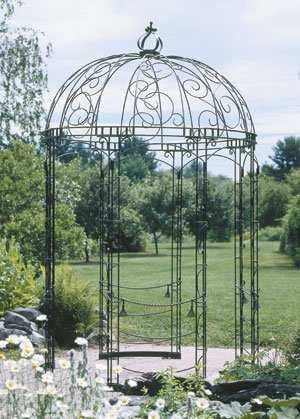 - Achla Designs Decorative Wrought Iron Circular Round Rhapsody Garden Pavilion