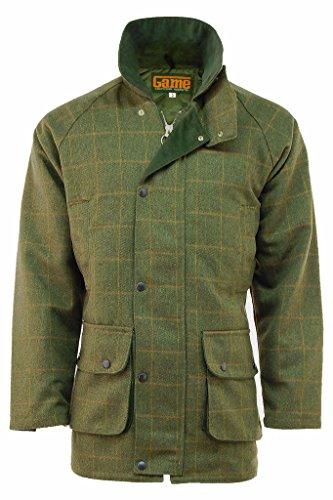 Mens Derby Tweed Shooting Hunting Jacket Large Dark Tweed