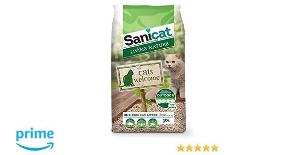 Sanicat Living Natura Arena de Gatos Exteriores para Gatos - 30L: Amazon.es: Productos para mascotas