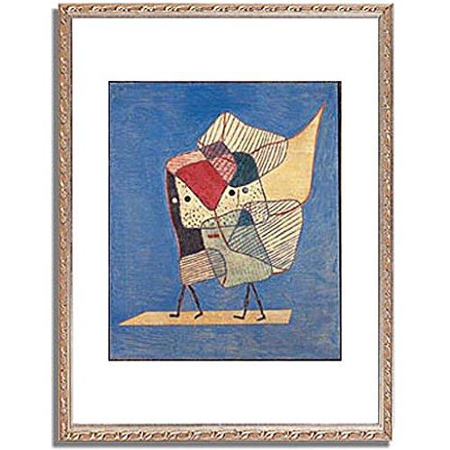 パウルクレー 「Twins. 1930 」 インテリア アート 絵画 壁掛け アートポスター フレーム:装飾(銀) サイズ:XL (563mm X 745mm) B00PB8NQPM 4.XL (563mm X 745mm)|5.フレーム:装飾(銀) 5.フレーム:装飾(銀) 4.XL (563mm X 745mm)