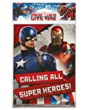 American Greetings Captain America: Civil War Invite and Thank-You Combo Pack (8 Count)