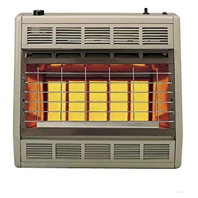 Empire Infrared Heater Natural Gas 30000 BTU, Manual Control 3 Settings