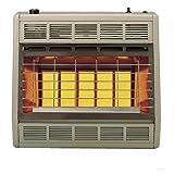 Empire Infrared Heater Natural Gas 30000 BTU, Manual Control 3 Settings