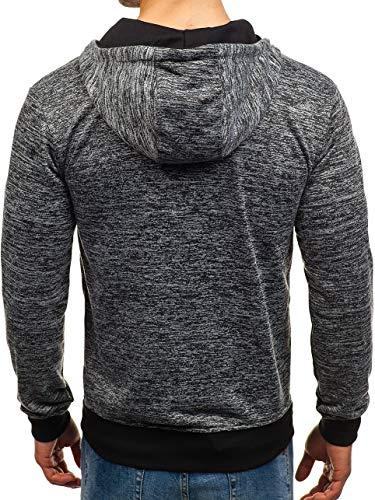 1a1 Éclair Fermeture Sweatshirt Bolf Sportif Gris Foncé Homme tt79 Style Capuche qStTTW0