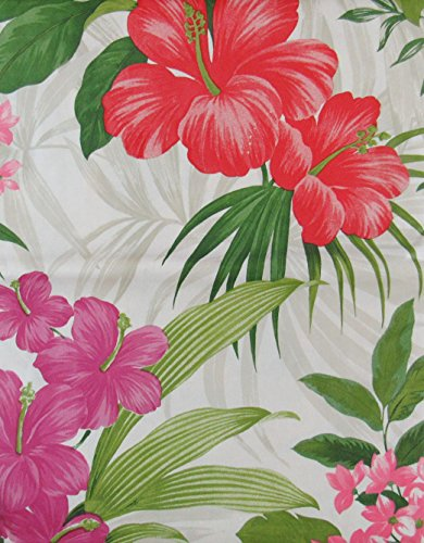 Red and Red/Purple Hibiscus with Tropical Pink Flowers Vi...