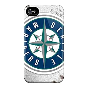 Waterdrop Snap-on Seattle Mariners Cases And Cover For Iphone 4/4s