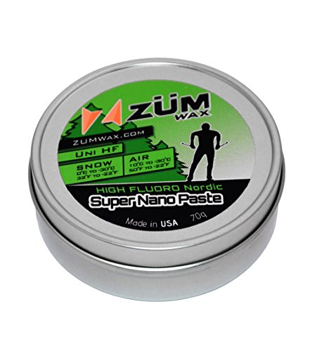 ZUMWax NORDIC/CROSS-COUNTRY HIGH FLUORO RUB ON PASTE WAX – NANO TECHNOLOGY - All Temperature Universal - 70 gram - HIGH FLUORO NANO RACING RUB ON PASTE Wax at incredible price!!! The FASTEST !!! by ZUMWax