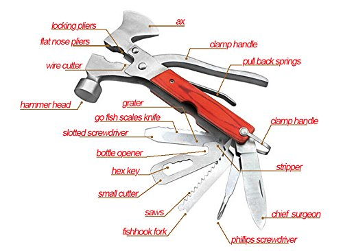 Prime-Multi-Tool-Kit-Premium-16-In-1-Portable-Multifunction-Stainless-Steel-Hammer-Axe-Wrench-Pliers-Saw-Blade-Knife-Screwdriver-Can-Opener-Tools-Set-with-Natural-Ergonomic-Wood-Hand-Handle-Silver