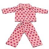 Generic Pajamas Sleepwear Doll Clothes Fits 18 Inch American Girl 2 PCS Set - Pink