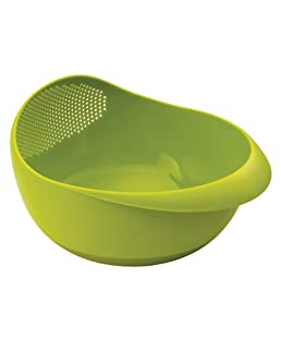 Electomania Rice Pulses Fruits Vegetable Noodles Pasta Colander Washing Bowl Strainer & Drainer Perfect Kitchen Food Storage Basket for Rinse Storing & Straining (Multicolour)