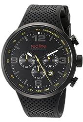 red line Men's RL-50057-BB-01-YEL Apex 12 Analog Display Japanese Quartz Black Watch
