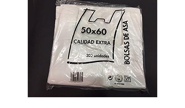 Bolsas de Plastico Asa Camiseta 50 x 60 cm: Amazon.es ...