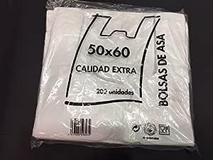 Bolsas de Plastico Asa Camiseta 50 x 60 cm: Amazon.es