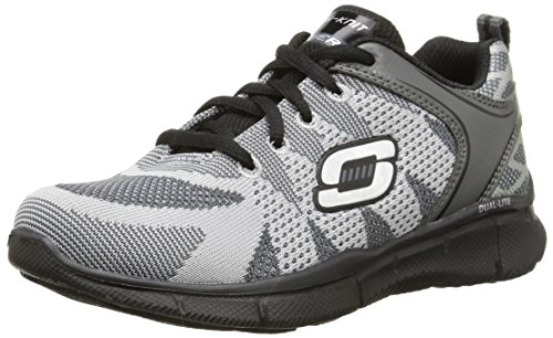 Skechers Equalizer Quick Track, Jungen Sneakers Grau (charcoal/noir)