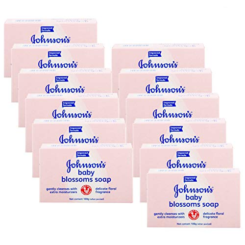 Johnson & Johnson Baby Lotion bar Soap Blossoms 100 G/ 3.5 Oz (Pack of 12)