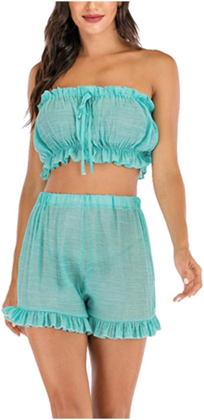 Side Split Tight Hip Skirt f/ür Shopping Party Strand Streetwear Bekleidungsets TUDUZ Rock und Top Sets Damen Sommer Blumen Zweiteiliges Crop Tops