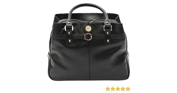 Jill.e Designs Black Leather Jill-e Designs E-GO Career Bag 373595