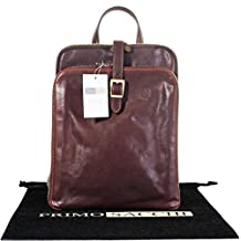 Luxury Italian Hand Made Leather Ladies Quality Classic Vintage Style Back Pack Briefcase Shoulder Bag. Includes Branded Protective Storage Bag