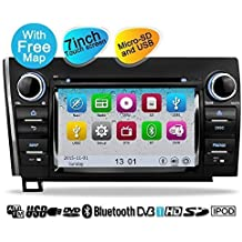 YINUO Touch Screen Car Stereo for Toyota Tundra Sequoia 7 Inch 800480 HD In-Dash GPS Navigation A/V receiver support DVD 1080P-Video iPod/iPhone AV-IN Steering Wheel Control Bluetooth