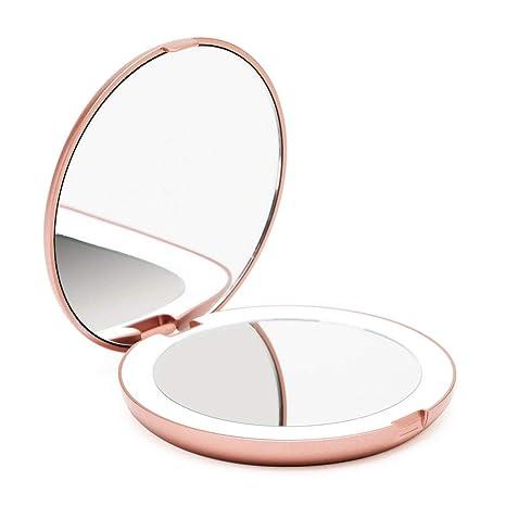 Fancii Miroir Lumineux De Poche Grossissant 1x 10x Led Miroir à
