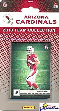 Arizona Cardinals 2018 Panini NFL Football Factory Sealed Limited Edition  13 Card Complete Team Set with CANVAS Rookie of JOSH ROSEN & David Johnson,
