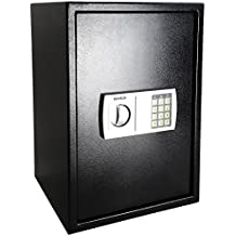 ROVSUN 1.8 CF Electronic Security Safe Box,Large Digital Cabinet with Keypad Lock&Solid Steel Construction,Perfect for Home Office Hotel Business Cash Jewelry Wallet Valuable,Included Battery Gift