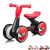 4 wheels motor for boys - XJD Toddler Trike Baby Balance Bike, 4 Wheels No Pedal Infant Learning Walker, For Ages 12+ Months, Durable Kids Tricycle(Red)