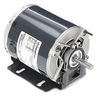 Motor de ventilador de condensador, 1/3 CV, marco 48Y: Amazon.es ...