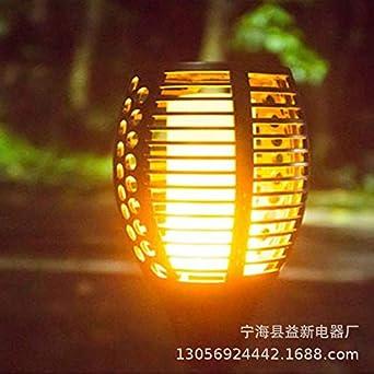 Luz de llama al aire libre led antorcha de llama al aire libre jardín de inducción patio decoración del piso de césped: Amazon.es: Iluminación