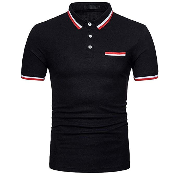 Amazon.com: Photno Camisas polo de manga corta para hombre ...